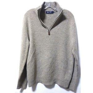 J. Crew zipper light brown sweater